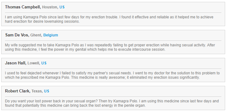 Thomas Campbell of Houston is a man that found his happiness back with Kamagra Polo